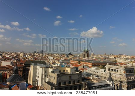 Panoramic Views Of Madrid From Above .