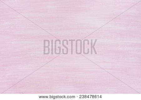 Wooden Board Abstract Texture Background Painted With Pink Pastel Color