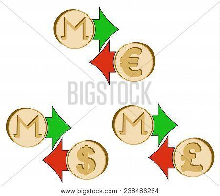 Exchange Monero To Dollar , Euro And British Pound , Coins Of Moneroand Dollar, Euro And British Pou
