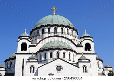 Cathedral Of Saint Sava In Belgrade, Serbia.