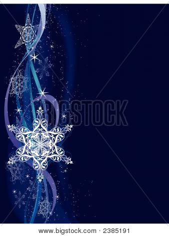 Vertical Snowflake Background.Eps