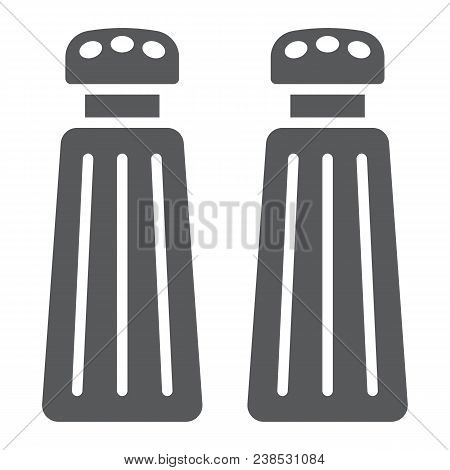 Salt And Pepper Shaker Glyph Icon, Kitchen And Cooking, Spice Sign Vector Graphics, A Solid Pattern