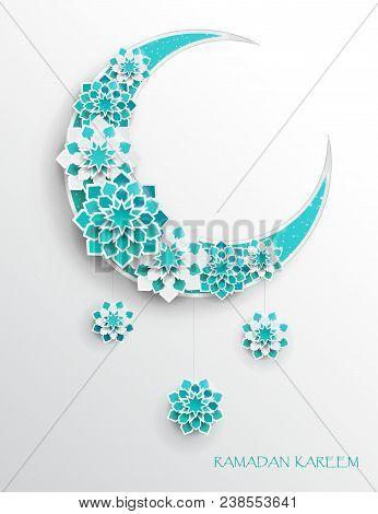 Paper Graphic Of Islamic Crescent Moon, Star Shape. Islamic Decoration. Ramadan Kareem - Glorious Mo