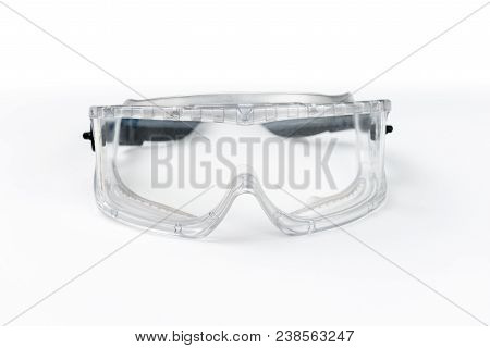 Goggles, Safety Glasses Isolated On White Background