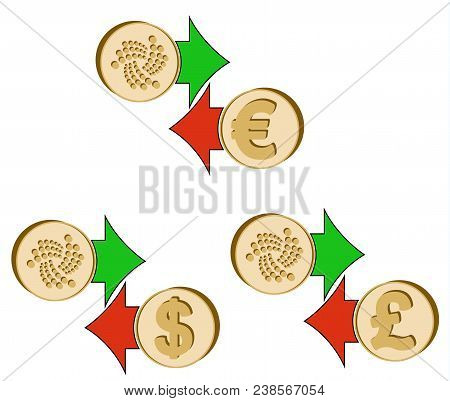 Exchange Iota To Dollar , Euro And British Pound , Coins Of Iota And Dollar, Euro And British Pound