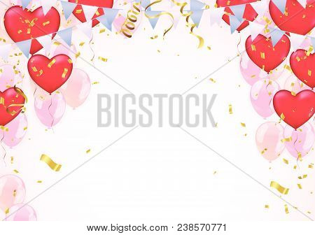Star Balloon And Balloon On Background. Party Helium Balloons Balloons Isolated On White Background.
