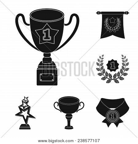 Awards And Trophies Black Icons In Set Collection For Design.reward And Achievement Vector Symbol St