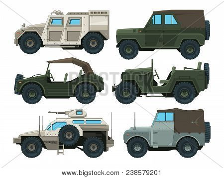 Colored Pictures Of Military Heavy Vehicles. Military Car Transportation, Transport Auto For War, Ve