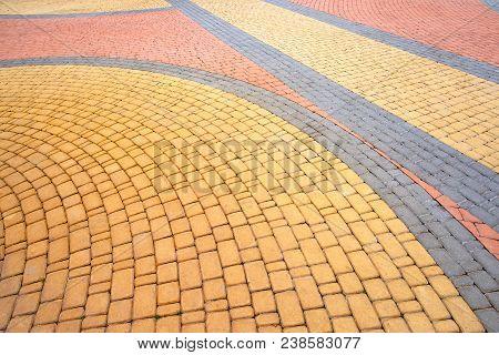 Colorful Cobblestones Pavement