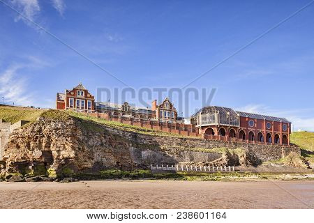 23 May 2017: Whitby, North Yorkshire Uk - The Pavilion, Whitby, Overlooking North Beach, North Yorks