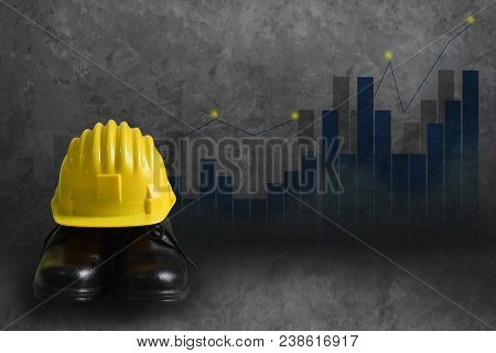 Background Wall Graphs, Statistics Indicates The Positive Direction. Safety Concept In The Industry