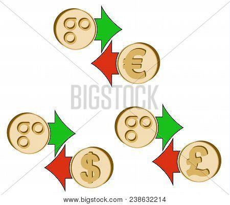 Exchange Omisego To Dollar , Euro And British Pound , Coins Of Omisego And Dollar, Euro And British