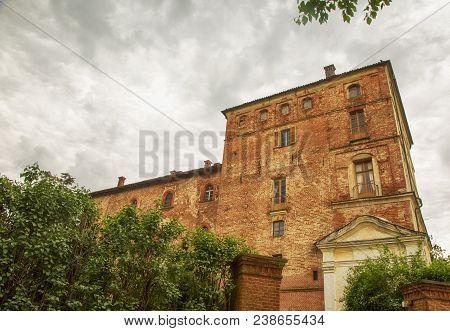 Renaissance Castle Under Grey Sky, Horizontal Image