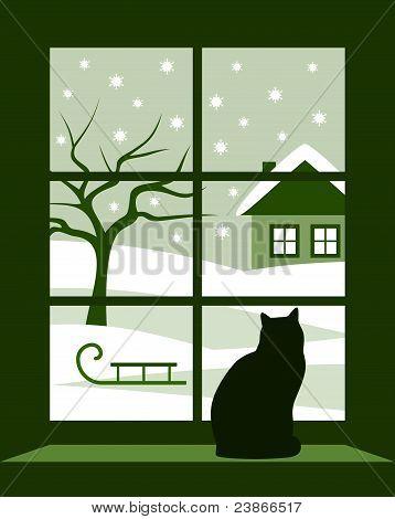 Силуэты на окна. как рисовать