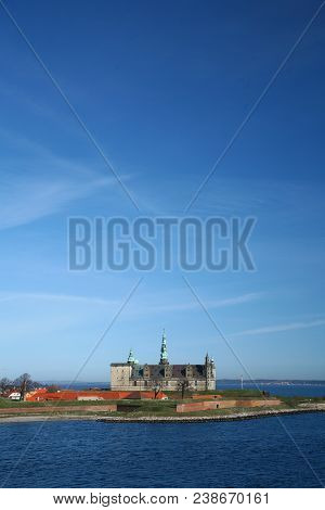 Kronborg Castle Viewed From The Ferry To Sweden