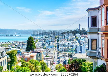 High Angle View Of San Francisco Skyline
