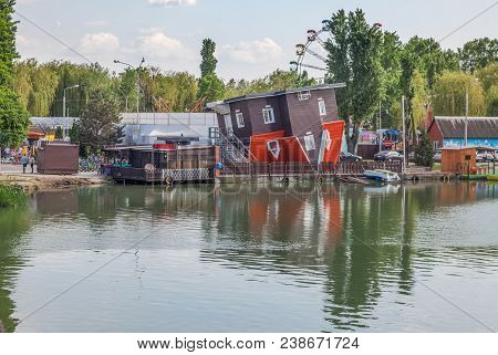 Krasnodar, Russia - May 4, 2017: Inverted House In Park.