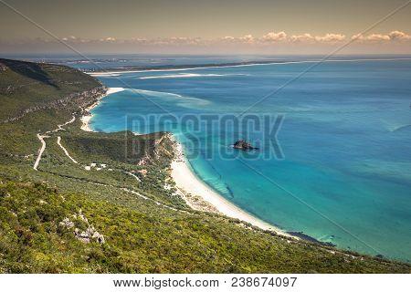 Beautiful Landscape View Of The National Park Arrabida In Setubal,portugal.