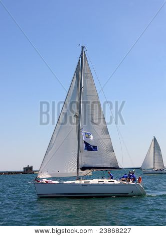 sailing regatta of cruiser sailing yachts