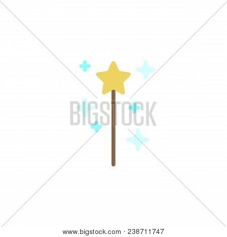 Magic Wand Flat Icon Vector Photo Free Trial Bigstock