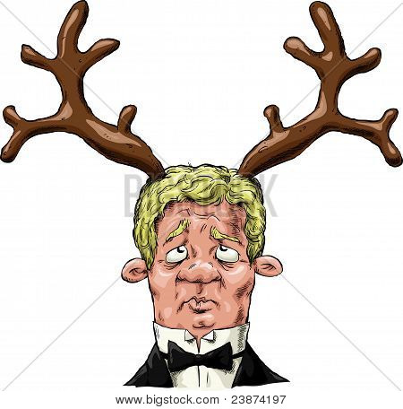 A man with antlers