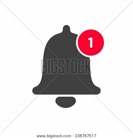 Notification Bell Icon. Vector Bell And Notification Number Sign For Incoming Inbox Message In Smart