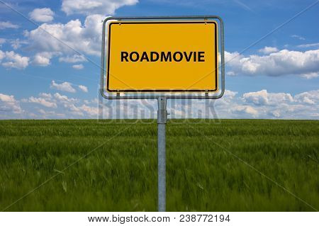 Roadmovie - Image With Words Associated With The Topic Movie, Word, Image, Illustration