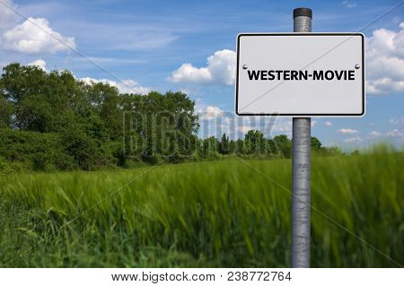 Western-movie - Image With Words Associated With The Topic Movie, Word, Image, Illustration