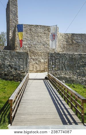 Drobeta Turnu-severin, Romania-april 04: Entrance And Access Bridge Of Medieval Fortress On April 04