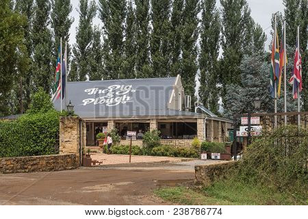 Winterton, South Africa - March 18, 2018: The Pig And Plough Farm Stall And Restaurant Near Winterto