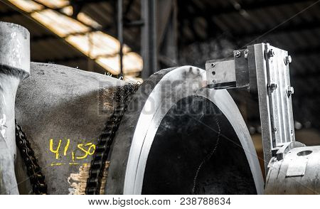 Industry Lathe Machine Work Steel Usine Tool