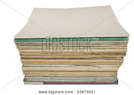 Stack of magazines with blank cover
