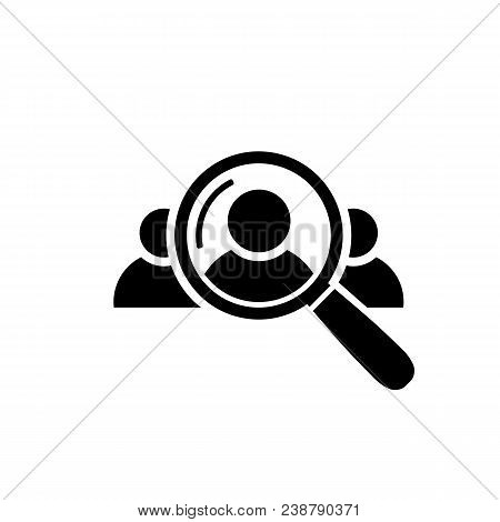 Human Resource Icon. Search For Employees And Job, Business, Human Resource Looking For Talent Searc
