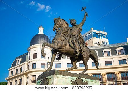 Statue Of Mihai Khrabrom On The University Square - The Prince Of Wallachia, Bucharest, Romania