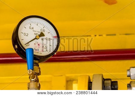 Heating Plant Manometer At The Heating Station