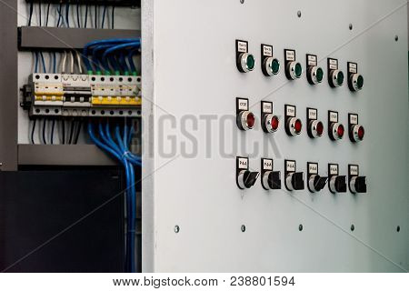 Electric Switch Cabinet At The Heating Station