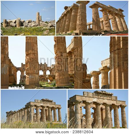 Glimpses Of The Ruins Of The Archaeological Area Of Agrigento
