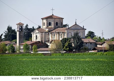 The Small Church Of A Village Located In The Middle Of The Lombard Countryside - Brescia - Italy 098