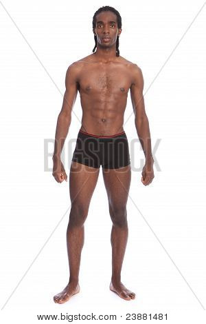 Fit Healthy Body Of Handsome Young Black Man