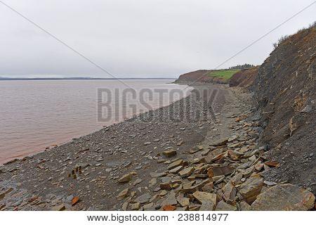 Joggins Fossil Cliffs Is A Unesco Natural World Heritage Site Since 2008, Nova Scotia, Canada. The C