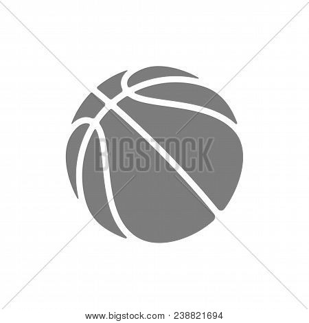 Basketball Logo Vector Icon For Streetball Championship Tournament, School Or College Team League. V