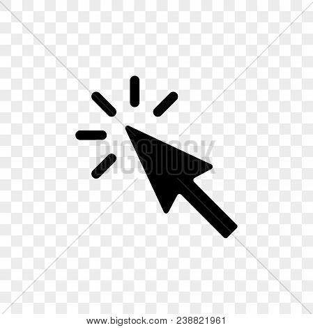 Arrow Pointer Or Click Button Vector Icon Of Arrow Web Cursor Pointer Clicking