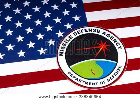 London, Uk - March 27th 2018: The Seal Or Symbol Of The Missile Defense Agency Of The Us Department