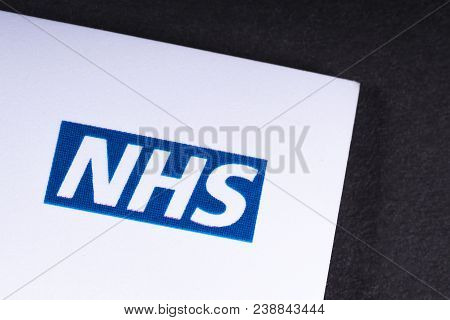 London, Uk - March 27th 2018: A Close-up Of The National Health Service Logo On A Lealfet, On 27th M
