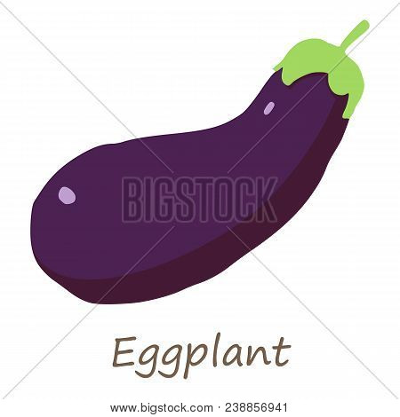 Eggplant Icon. Isometric Of Eggplant Vector Icon For Web Design Isolated On White Background