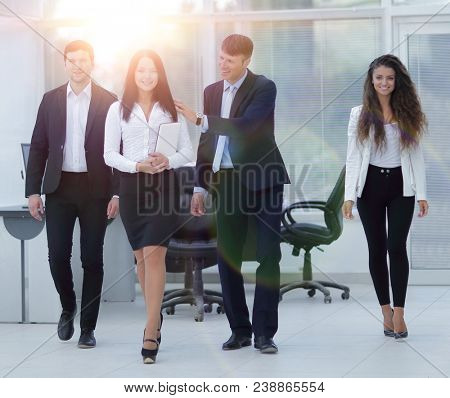 team of young professionals in the office