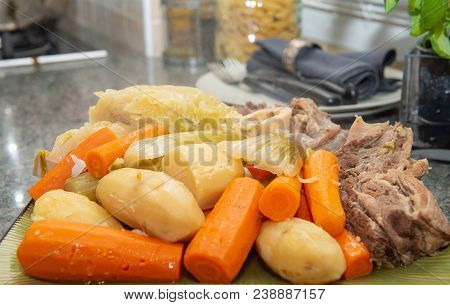 Beef Stew And Vegetable, A Pot Au Feu
