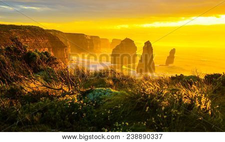 The Twelve Apostles Is A Collection Of Limestone Stacks Off The Shore Of The Port Campbell National