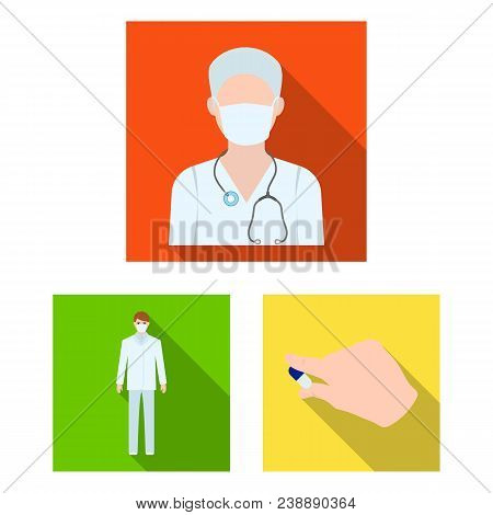 Medicine And Treatment Flat Icons In Set Collection For Design.hospital And Equipment Vector Symbol
