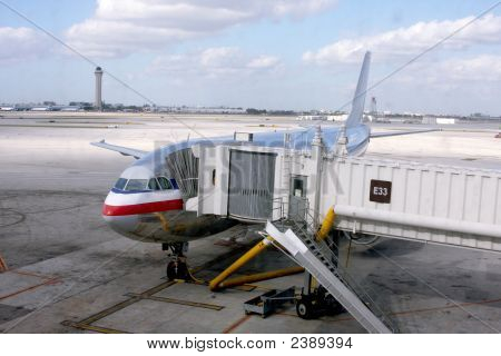 Miami International Airport Plane Gate